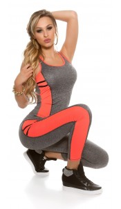 Trendy Workout Outfit Tanktop & Leggings Neoncoral