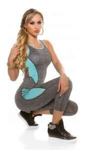 Trendy Workout Outfit Tanktop & Leggings Mint
