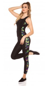 Trendy Workout Outfit Tanktop & Leggings Coloured