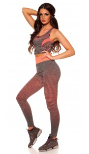 Trendy Workout Outfit Top + Leggings Neoncoral
