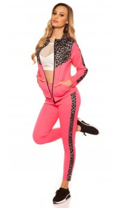 Trendy Jogging, Jogger & Jacket Neonfuchsia