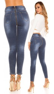 Sexy skinny jeans with deco zip at the back Jeansblue
