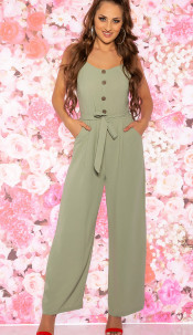 Trendy Summer Jumpsuit Khaki