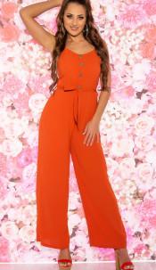 Trendy Summer Jumpsuit Orange