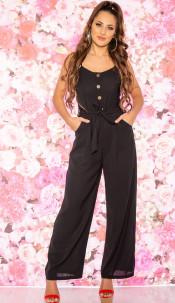 Trendy Summer Jumpsuit Black