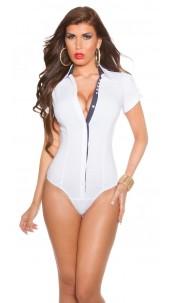 Trendy short sleeve blouse body White