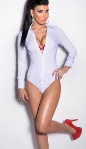Sexy business body blouse White