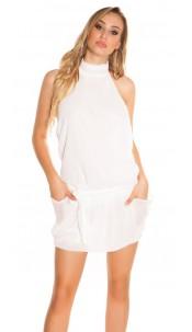 Sexy Chiffon-Neckdress, backfree White