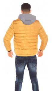 Trendy Mens Winterjacket Mustard
