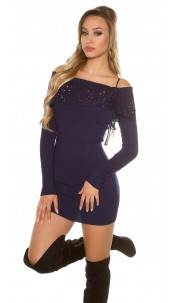 Sexy studded knitminidress Navy