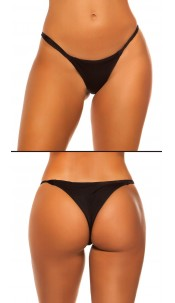Mix It!!! Sexy KouCla Brazilian Bikini Slip Black