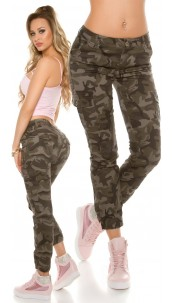 Trendy Camouflage Cargo Jeans Army