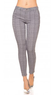 Trendy business look pants Blackwhite