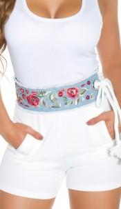 Trendy Waist Belt Boho-Style Blue