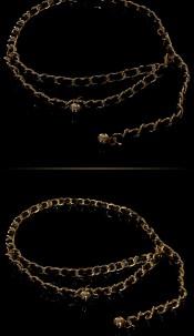 Trendy chain belt Gold