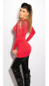 Sexy KouCla cardigan with sequin Coral