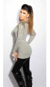 Sexy KouCla cardigan with sequin Grey