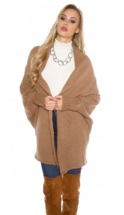 Oversize knitted cardigan Cappuccino
