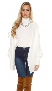 Oversize knitted cardigan Cream