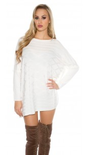 Oversize bat jumper White