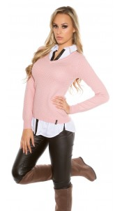 Trendy KouCla 2in1 shirt & jumper Antiquepink