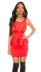 Sexy KouCla Minidress with peplum Red