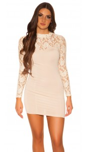Sexy KouCla minidress with lace Beige