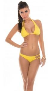 Sexy Neck-Bikini with chains Yellow