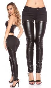 Sexy KouCla pants with leatherlook Black