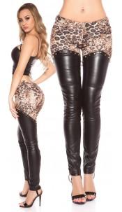 Sexy KouCla pants with leatherlook Leo