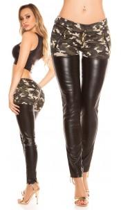 Trendy KouCla skinny pants with zips Army