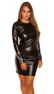 Sexy KouCla minidress in leatherlook Black