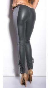 Sexy KouCla treggings with lacing on leg Grey