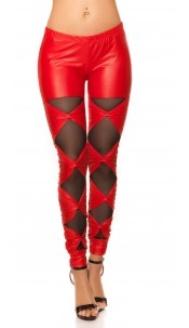 Sexy KouCla leggings with loops Red