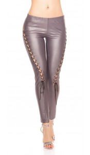 Sexy KouCla Leggings with lacing in the front Grey