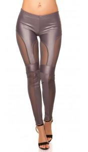 Sexy KouCla leggings with net-applications Grey