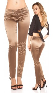 Sexy KouCla Business-trousers with pinstripes Cappuccino