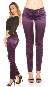 Sexy KouCla Business-trousers with pinstripes Purple