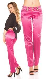 Sexy KouCla pants with studs and glitter Fuchsia