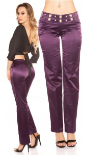 Sexy KouCla pants with studs and glitter Purple