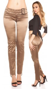 Sexy KouCla pants with sewed belt Cappuccino