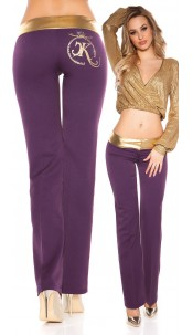 Sexy KouCla Bootcut pants Purple