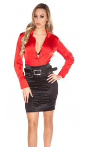 Sexy KouCla Pencilskirt with waistbelt Black