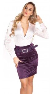 Sexy KouCla Pencilskirt with waistbelt Purple