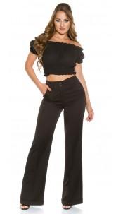 Trendy KouCla Marlene-dress pants Black