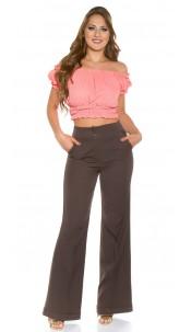 Trendy KouCla Marlene-dress pants Brown