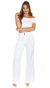 Trendy KouCla Marlene-dress pants White