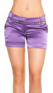 Sexy KouCla Hotpants with leo-seam Purple