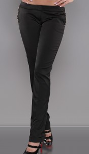 Sexy studded KouCla-pants Black