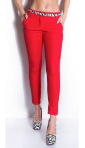 Sexy KouCla busines-pants with zebra-belt Red